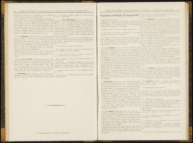 Raadsverslagen van de gemeente Leeuwarden, 1865-2007 (Notulen) 1890-08-26