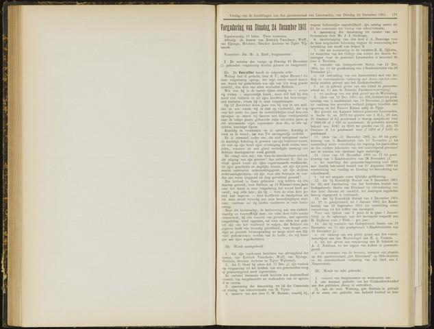 Raadsverslagen van de gemeente Leeuwarden, 1865-2007 (Notulen) 1901-12-24
