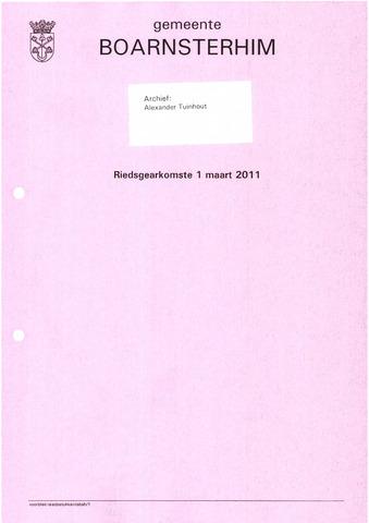 Boarnsterhim vergaderstukken gemeenteraad  2011-03-01