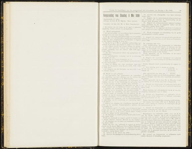 Raadsverslagen van de gemeente Leeuwarden, 1865-2007 (Notulen) 1899-05-09
