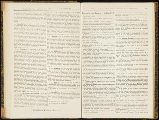 Raadsverslagen van de gemeente Leeuwarden, 1865-2007 (Notulen) 1887-10-11