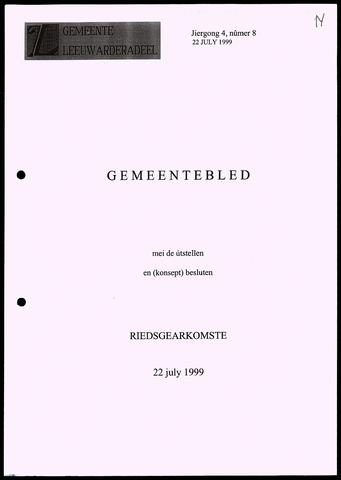 Notulen van de gemeenteraad van Leeuwarderadeel 1999-07-22