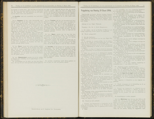 Raadsverslagen van de gemeente Leeuwarden, 1865-2007 (Notulen) 1904-03-29