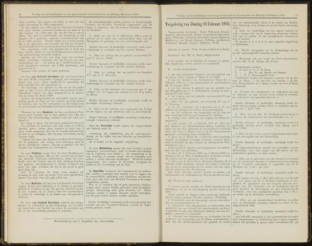Raadsverslagen van de gemeente Leeuwarden, 1865-2007 (Notulen) 1903-02-10