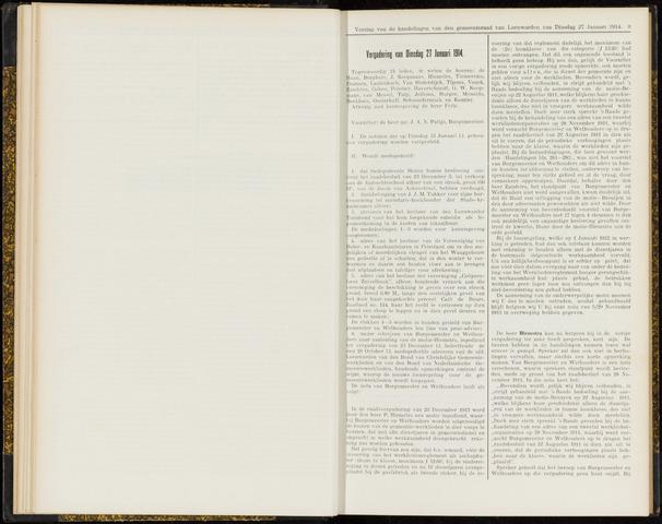 Raadsverslagen van de gemeente Leeuwarden, 1865-2007 (Notulen) 1914-01-27
