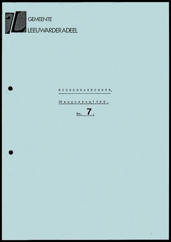Notulen van de gemeenteraad van Leeuwarderadeel 1989-08-29