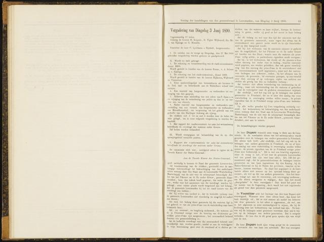 Raadsverslagen van de gemeente Leeuwarden, 1865-2007 (Notulen) 1890-06-03
