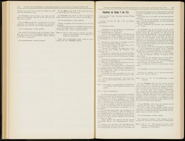 Raadsverslagen van de gemeente Leeuwarden, 1865-2007 (Notulen) 1936-06-09