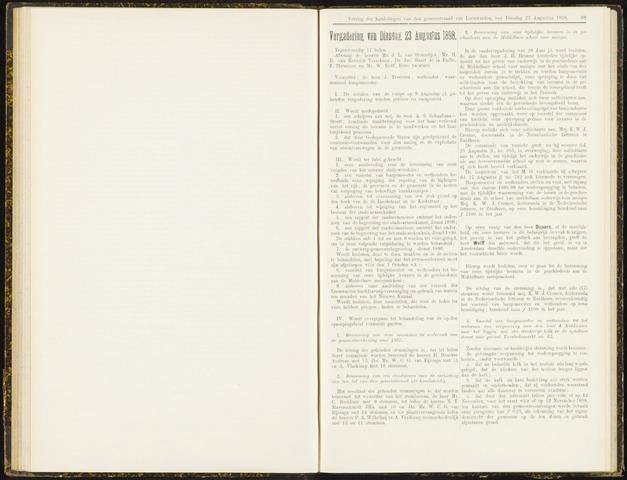 Raadsverslagen van de gemeente Leeuwarden, 1865-2007 (Notulen) 1898-08-23