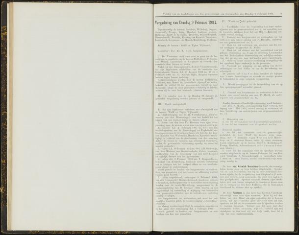 Raadsverslagen van de gemeente Leeuwarden, 1865-2007 (Notulen) 1904-02-09