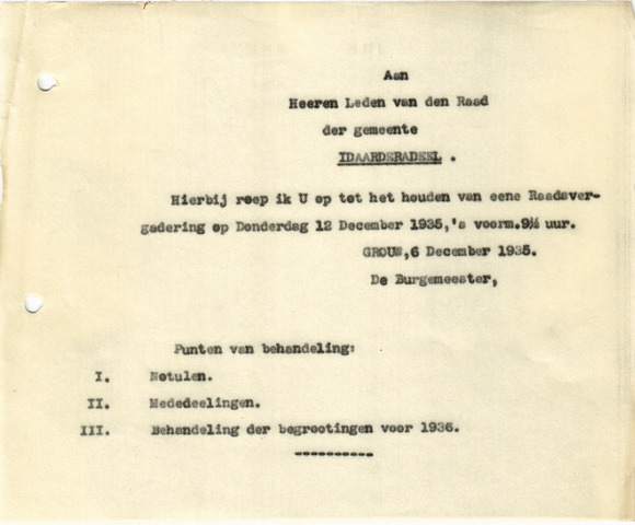 raadsverslagen Idaarderadeel 1935-1983 1935-12-12