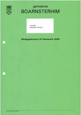 Boarnsterhim vergaderstukken gemeenteraad  2009-02-24