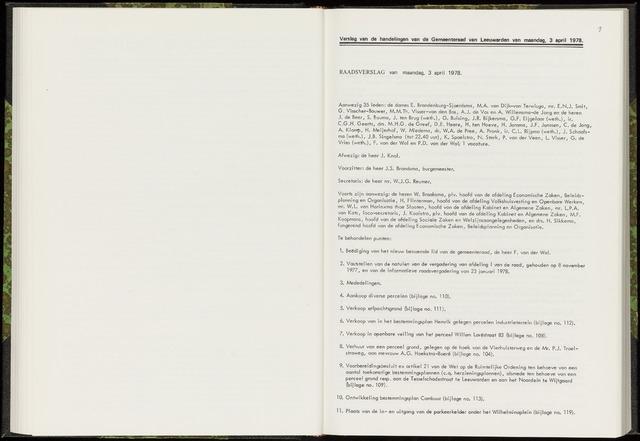 Raadsverslagen van de gemeente Leeuwarden, 1865-2007 (Notulen) 1978-04-03