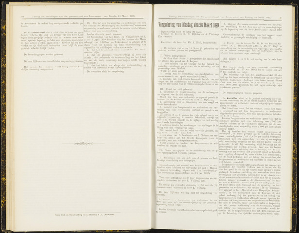 Raadsverslagen van de gemeente Leeuwarden, 1865-2007 (Notulen) 1899-03-28