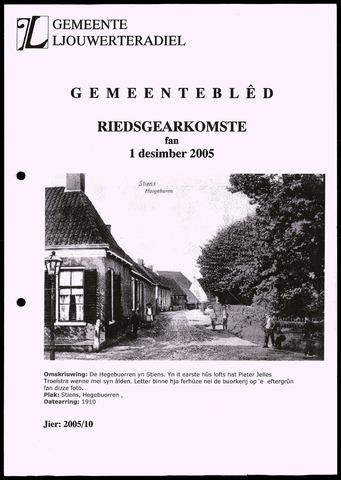 Notulen van de gemeenteraad van Leeuwarderadeel 2005-12-01
