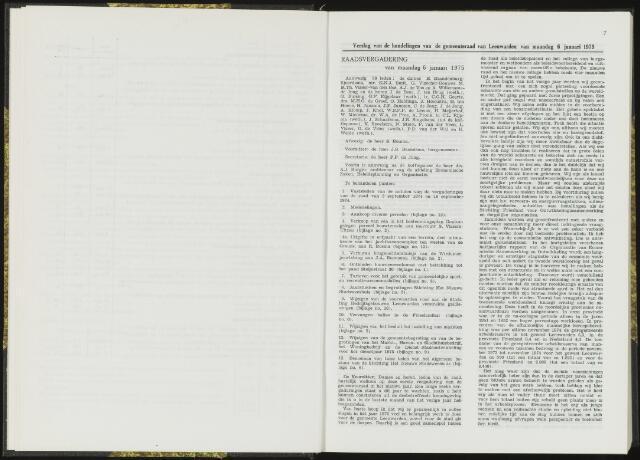 Raadsverslagen van de gemeente Leeuwarden, 1865-2007 (Notulen) 1975