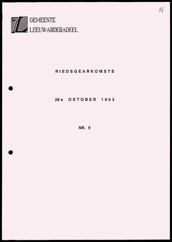 Notulen van de gemeenteraad van Leeuwarderadeel 1993-10-28