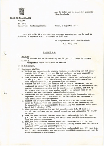 raadsverslagen Idaarderadeel 1935-1983 1977-08-16