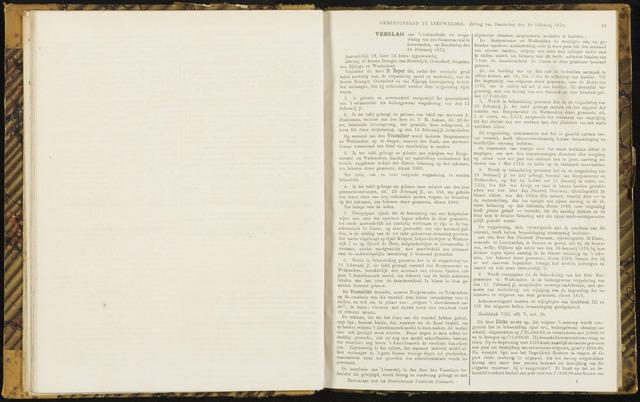 Raadsverslagen van de gemeente Leeuwarden, 1865-2007 (Notulen) 1870-02-24