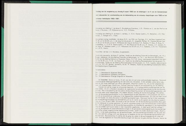 Raadsverslagen van de gemeente Leeuwarden, 1865-2007 (Notulen) 1983-03-08