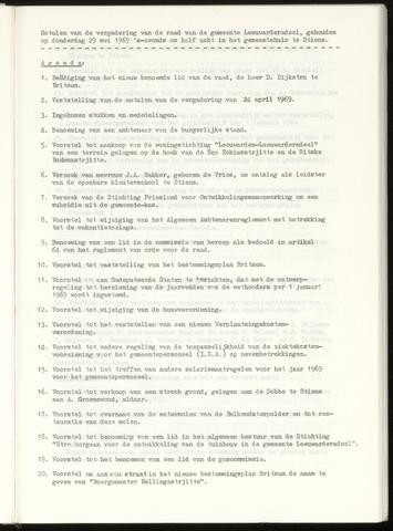 Notulen van de gemeenteraad van Leeuwarderadeel 1969-05-29