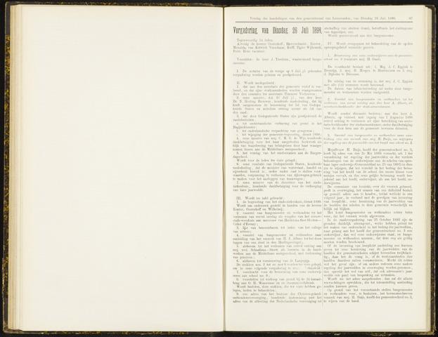 Raadsverslagen van de gemeente Leeuwarden, 1865-2007 (Notulen) 1898-07-26