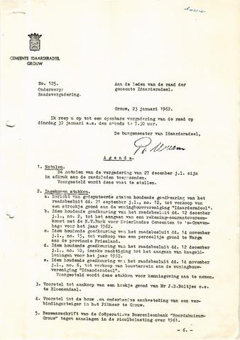 raadsverslagen Idaarderadeel 1935-1983 1962