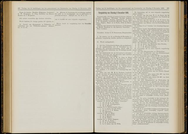 Raadsverslagen van de gemeente Leeuwarden, 1865-2007 (Notulen) 1908-12-08