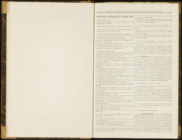 Raadsverslagen van de gemeente Leeuwarden, 1865-2007 (Notulen) 1888-02-28