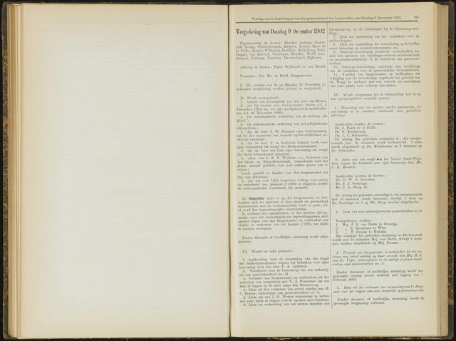 Raadsverslagen van de gemeente Leeuwarden, 1865-2007 (Notulen) 1902-12-09