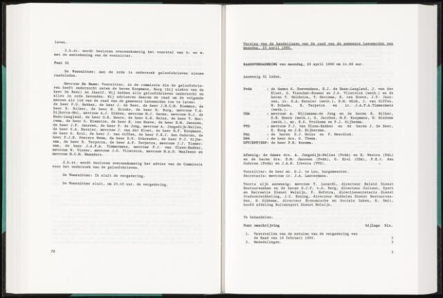 Raadsverslagen van de gemeente Leeuwarden, 1865-2007 (Notulen) 1990-04-23