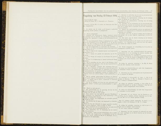 Raadsverslagen van de gemeente Leeuwarden, 1865-2007 (Notulen) 1894-02-13