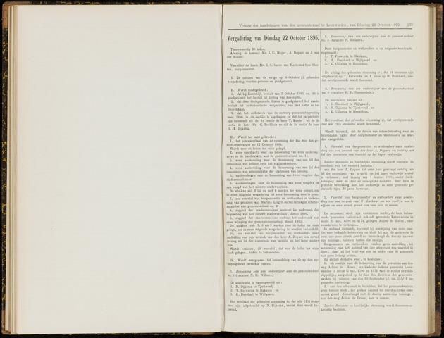 Raadsverslagen van de gemeente Leeuwarden, 1865-2007 (Notulen) 1895-10-22