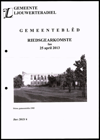 Notulen van de gemeenteraad van Leeuwarderadeel 2013-04-25
