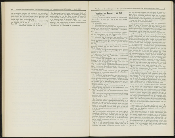 Raadsverslagen van de gemeente Leeuwarden, 1865-2007 (Notulen) 1940-04-25