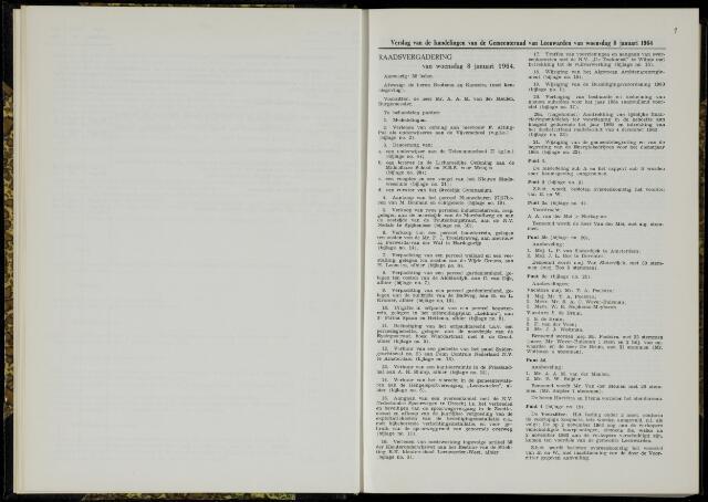 Raadsverslagen van de gemeente Leeuwarden, 1865-2007 (Notulen) 1964
