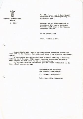 raadsverslagen Idaarderadeel 1935-1983 1981-12-22