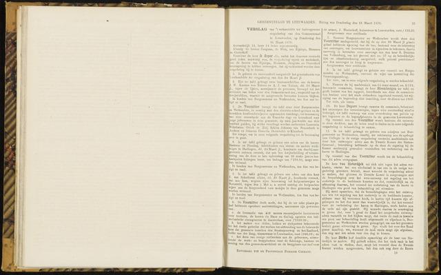 Raadsverslagen van de gemeente Leeuwarden, 1865-2007 (Notulen) 1870-03-31