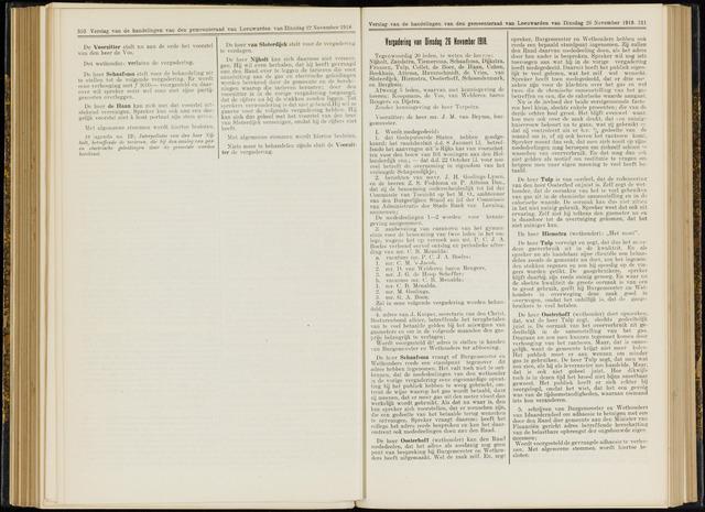 Raadsverslagen van de gemeente Leeuwarden, 1865-2007 (Notulen) 1918-11-26