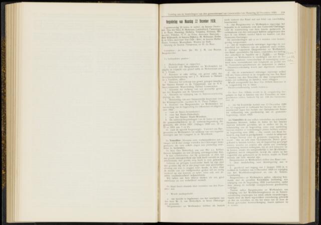 Raadsverslagen van de gemeente Leeuwarden, 1865-2007 (Notulen) 1930-12-22