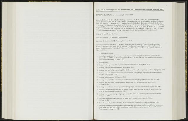 Raadsverslagen van de gemeente Leeuwarden, 1865-2007 (Notulen) 1975-10-06