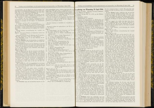 Raadsverslagen van de gemeente Leeuwarden, 1865-2007 (Notulen) 1946-04-24