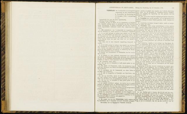 Raadsverslagen van de gemeente Leeuwarden, 1865-2007 (Notulen) 1869-12-16
