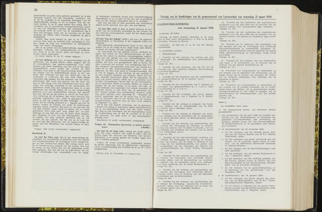 Raadsverslagen van de gemeente Leeuwarden, 1865-2007 (Notulen) 1956-03-21