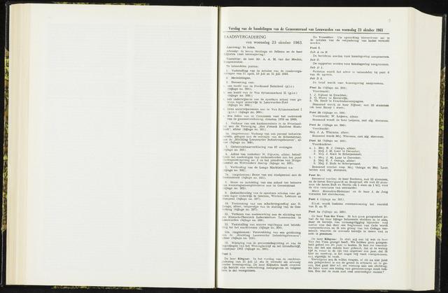 Raadsverslagen van de gemeente Leeuwarden, 1865-2007 (Notulen) 1963-10-23