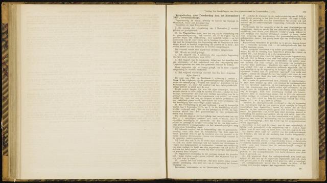 Raadsverslagen van de gemeente Leeuwarden, 1865-2007 (Notulen) 1871-11-23