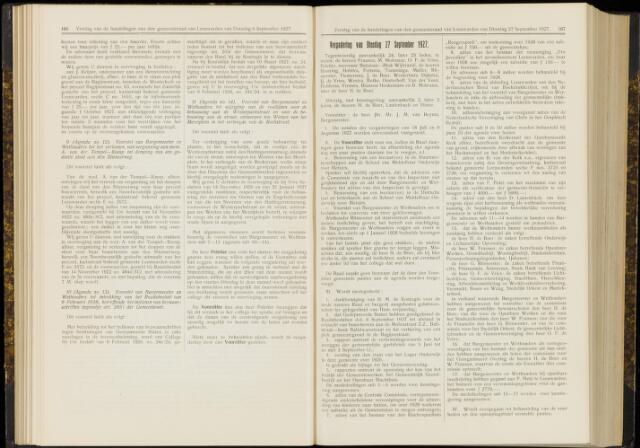 Raadsverslagen van de gemeente Leeuwarden, 1865-2007 (Notulen) 1927-09-27
