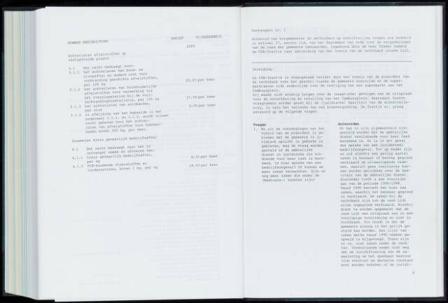 Raadsverslagen van de gemeente Leeuwarden, 1865-2007 (Schriftelijke vragen) 1999
