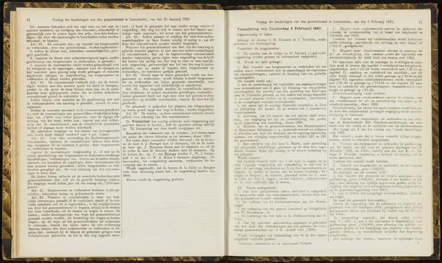Raadsverslagen van de gemeente Leeuwarden, 1865-2007 (Notulen) 1883-02-08