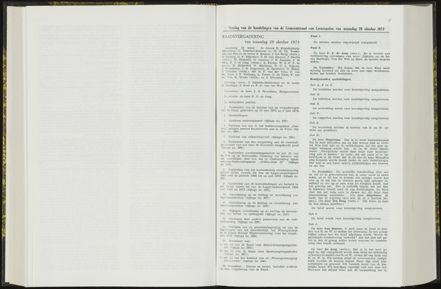 Raadsverslagen van de gemeente Leeuwarden, 1865-2007 (Notulen) 1973-10-29